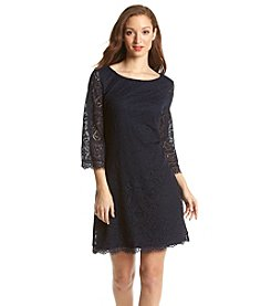 London Times® Lace Shift Dress