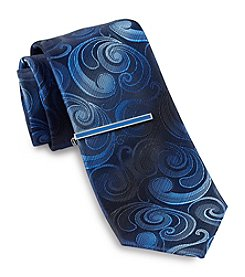 Gold Series™ Men's Paisley Tie With Tie Bar