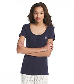 Tommy Hilfiger® Solid Lace Henley Sleep Tee