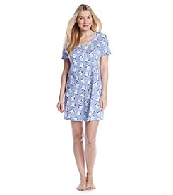 Intimate Essentials® Blue Bouquet Printed Sleepshirt