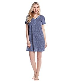 Intimate Essentials® Navy Dot Printed Sleepshirt
