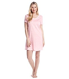 Intimate Essentials® Pink Dot V-Neck Sleepshirt