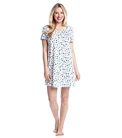 Intimate Essentials® Blue Butterfly V-Neck Sleepshirt