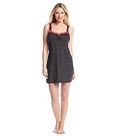 Linea Donatella® Black and Coral Dot Chemise
