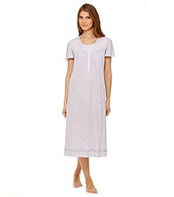 Aria® Periwinkle Leaves Long Night Gown