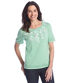 Alfred Dunner® High Tea Solid Embellished Sweater