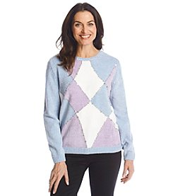 Alfred Dunner® A Fine Romance Chenille Colorblock Sweater