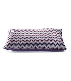 John Bartlett Pet Purple Chevron Large Pet Bed