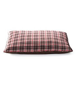 John Bartlett Pet Brown Plaid Large Pet Bed