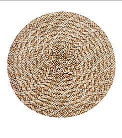 LivingQuarters Heathered Jute Round Placemat