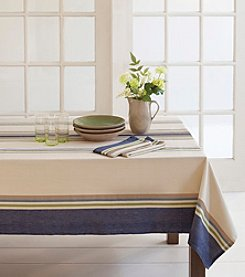 LivingQuarters Tate Stripe Table Linens