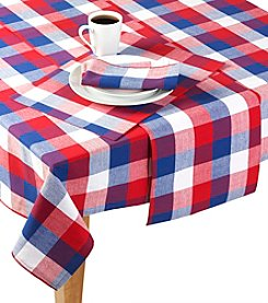 LivingQuarters Buffalo Check Table Linens