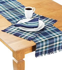 Ruff Hewn Blue and Green Plaid Table Linens
