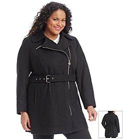 MICHAEL Michael Kors® Plus Size Asymmetric Zip Belted Walker