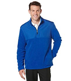 PGA TOUR® Men's Long Sleeve 1/4 Zip Mixed Media Fleece