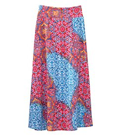 Amy Byer Girls' 7-16 Geo Straight Hem Maxi Skirt