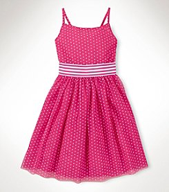 Chaps® Girls' 7-16 Polka Dot Tulle Dress
