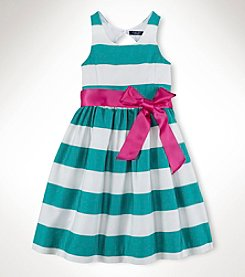 Chaps® Girls' 7-16 Multi Stripe Woven Dress