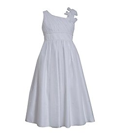 Bonnie Jean® Girls' 7-16 Sequin Dress With Floral Tulle