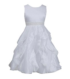 Bonnie Jean® Girls' 7-16 Satin Bodice With Cascade Skirt