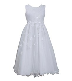 Bonnie Jean® Girls' 7-16 Mesh Bodice With Floral Tulle