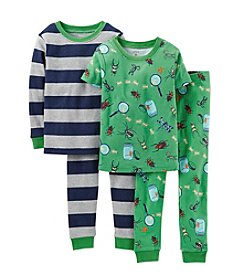 Carter's® Boys' 12M-7 4-Piece Snug-Fit Cotton Pajamas