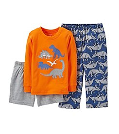 Carter's® Boys' 12M-12 3-Piece Jersey Pjs