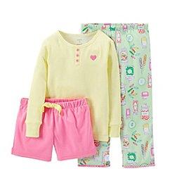 Carter's® Girls' 2T-14 3-Piece Cotton & Jersey Pajamas