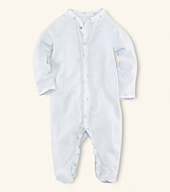 Ralph Lauren Childrenswear Baby Boys' Printed Trim Coverall