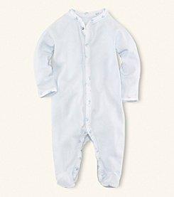Ralph Lauren Childrenswear Baby Boys' Printed Trim Coverall
