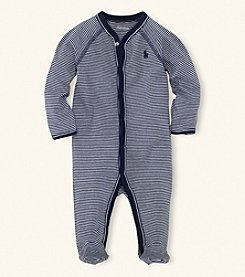 Ralph Lauren Childrenswear Baby Boys' Striped Coverall