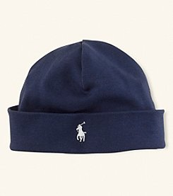 Ralph Lauren Childrenswear Baby Boys' Interlock Beanie