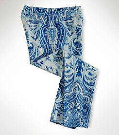 Ralph Lauren Childrenswear Girls' 2T-6X Paisley Leggings