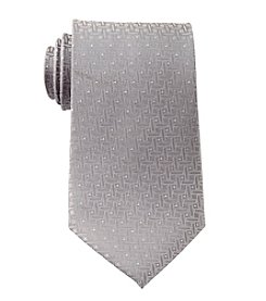 Geoffrey Beene® Men's Big & Tall Lurex Basketweave Pattern Tie