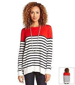 Karen Kane® Stripe Pullover Sweater