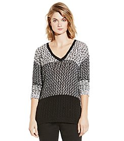 Vince Camuto® Colorblock Stitch Sweater