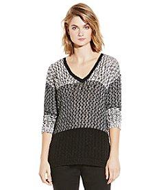 Vince Camuto® Colorblock Stitch Sweater
