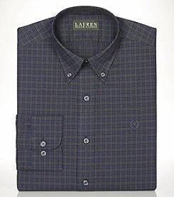 Lauren Ralph Lauren® Men's Non-Iron Slim-Fit Green Tartan Long Sleeve Dress Shirt