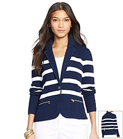 Lauren Ralph Lauren® Striped Cotton Sweater Blazer