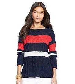 Lauren Jeans Co.® Striped Boatneck Sweater