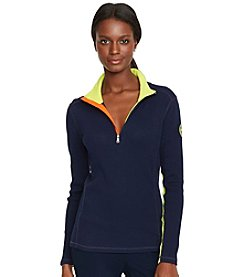 Lauren Active® Color-Blocked Cotton Pullover