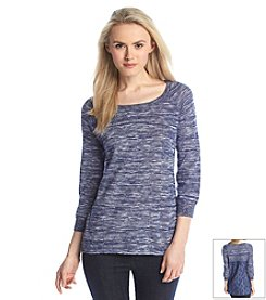 Fever™ Space Dye Knit Top