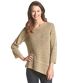 NY Collection Marled Yarn Sweater