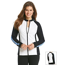 Jones New York Sport® Petites' Color Block Zip-Up