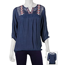 A. Byer Embroidered Pesant Top