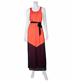 A. Byer Colorblocked Maxi Dress