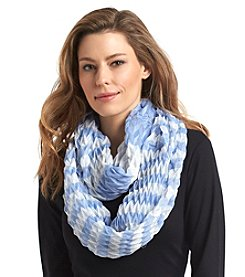Collection 18 Chevron Stripe Infinity Loop Scarf