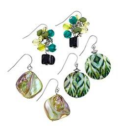 Ruby Rd.® Silvertone Three Drop Earrings Set