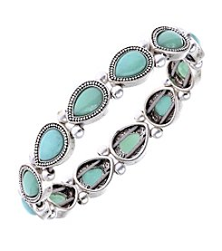 Nine West Vintage America Collection® Silvertone Stretch Bracelet