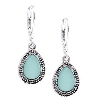 Nine West Vintage America Collection® Silvertone Small Drop Earrings plus size,  plus size fashion plus size appare